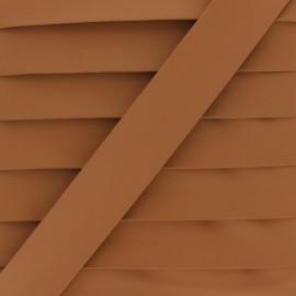 Matte Faux Leather Bias Binding - camel Tilla x 1m