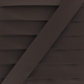 Matte Faux Leather Bias Binding - brown Tilla x 1m
