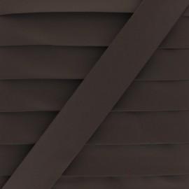 Matte Faux Leather Bias Binding - brown Tilla x 1m