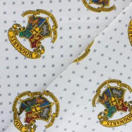 Tissu Flanelle Harry Potter - Hogwarts - gris x 10cm