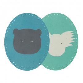 Coudières Genouillères Thermocollantes (la paire) BOHIN - bleu/vert