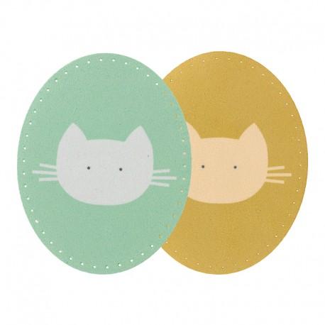 Coudières Genouillères Thermocollantes (la paire) BOHIN - jaune/vert