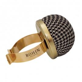 Bohin Gold Metal Pin Holder Bracelet - Houndstooth