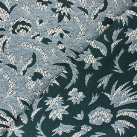 Tissu Walkie Talkie - Jacquard Origami - noir/blanc x 10cm