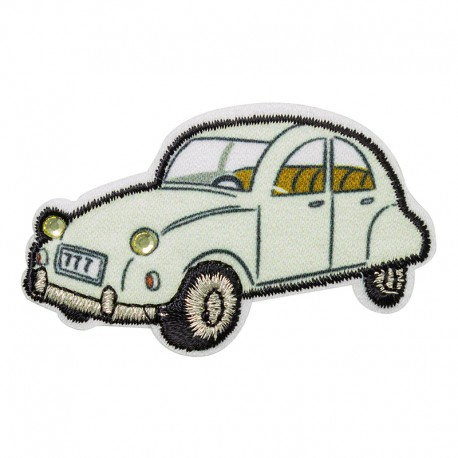 Iron-on rhinestone patch - 2CV Bonjour Paris