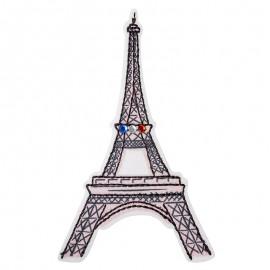 Thermocollant à strass Bonjour Paris - Tour Eiffel