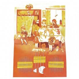 Set de 36 aiguilles + enfile-aiguille Vintage - jaune