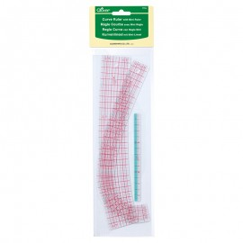 Clover Curve rulers (x2) + 15cm mini ruler
