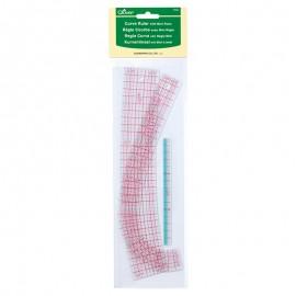 Règles courbes x2 + mini règle de 15cm - Clover