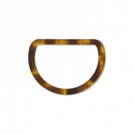 Joined D Ring 30 mm - tortoiseshell