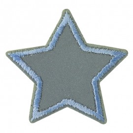 Reflecting self-adhesive and Iron-On Patch - grey Etoile