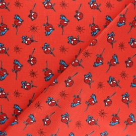 Tissu coton Marvel Spiderman - rouge x 10cm