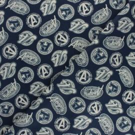 Tissu coton Marvel Avengers - bleu x 10cm