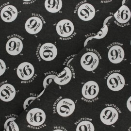 Tissu Flanelle Harry Potter Voie 9¾ - gris x 10cm