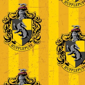 Harry Potter Fleece fabric - Hufflepuff x 30cm