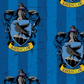Harry Potter Fleece fabric - Ravenclaw x 30cm