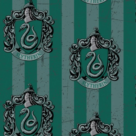 Harry Potter Fleece fabric - Slytherin x 30cm