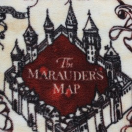 Harry Potter Fleece fabric - The Marauder's Map x 58cm