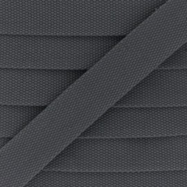 30 mm Plain Polycotton Strap - dark grey x 1m