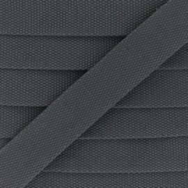 Sangle Polycoton 30 mm - gris foncé x 1m