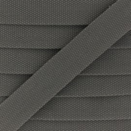 30 mm Plain Polycotton Strap - taupe grey x 1m