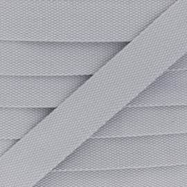 30 mm Plain Polycotton Strap - light grey x 1m