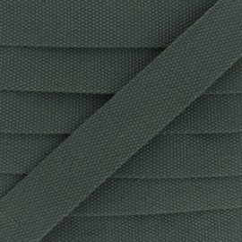 30 mm Plain Polycotton Strap - khaki green x 1m