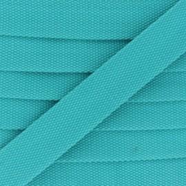 30 mm Plain Polycotton Strap - turquoise x 1m