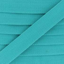 Sangle Polycoton 30 mm - turquoise x 1m