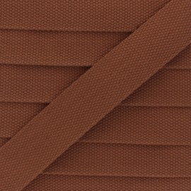 30 mm Plain Polycotton Strap - caramel x 1m