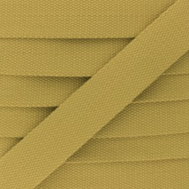 30 mm Plain Polycotton Strap - curry yellow x 1m