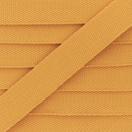 30 mm Plain Polycotton Strap - saffron yellow x 1m
