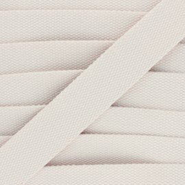 30 mm Plain Polycotton Strap - raw x 1m