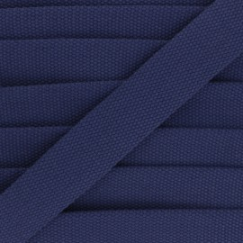 30 mm Plain Polycotton Strap - navy blue x 1m