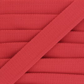 30 mm Plain Polycotton Strap - grenadine x 1m