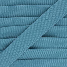 30 mm Plain Polycotton Strap - blue x 1m