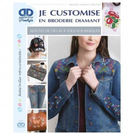 "Livre ""Je customise en broderie diamant"""