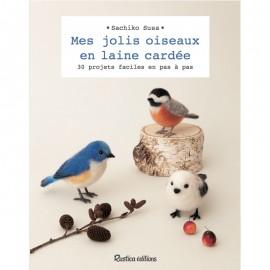 """Livre """"Mes jolis oiseaux en laine cardée"""""""