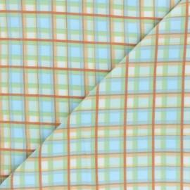 Tissu Flanelle Winter Plaid - bleu x 10cm