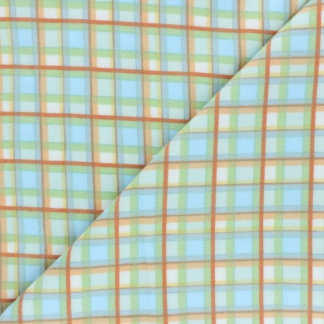 Flannel Fabric - blue Winter Plaid x 10cm