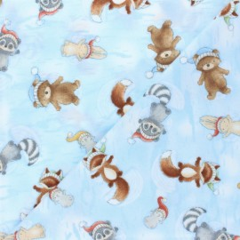 Flannel Fabric - blue Snow Angels x 10cm