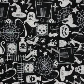 Tissu Coton Timeless T. phosphorescent - Halloween Glow x 10cm