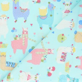 Timeless Treasures Cotton fabric - Knitting Alpacas x 10cm