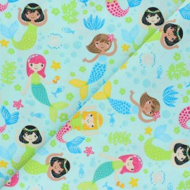 Timeless Treasures Cotton fabric - Glitter Mermaids x 10cm
