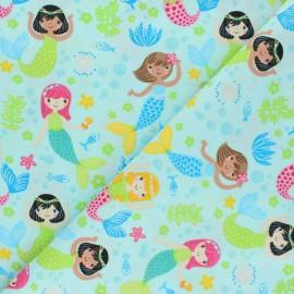Tissu Coton Timeless Treasures - Glitter Mermaids x 10cm