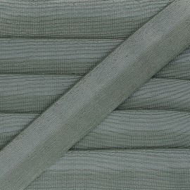 40 mm bicolor Lurex Elastic - Green-grey/Silver Party x 1m
