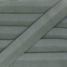 40 mm bicolor Lurex Elastic - Green-grey/Silver Party x 1m