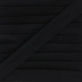Folded Velvet Bias Binding - Black x 1m