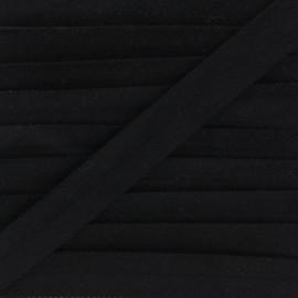 Biais replié velours - noir x 1m