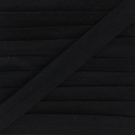 Folded Velvet Bias Binding - Black x 1m